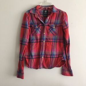 American eagle favorite fit flannel shirt red soft